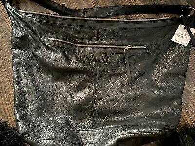 Authentic BALENCIAGA Black Motocross Courier Weekend Extra Large Tote