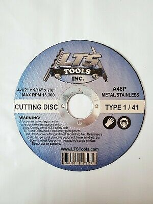 "Steel Freehand Cut-off Wheel Disc T41 - 100 PACK 4-1//2/"" x 0.04/"" x 7//8/"""