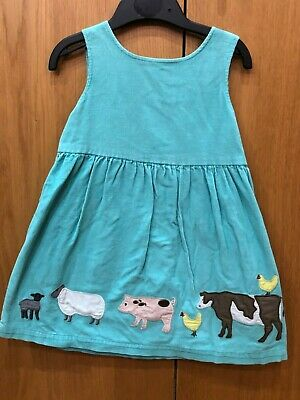 Boden girls dress pinafore animals age 2-3 years