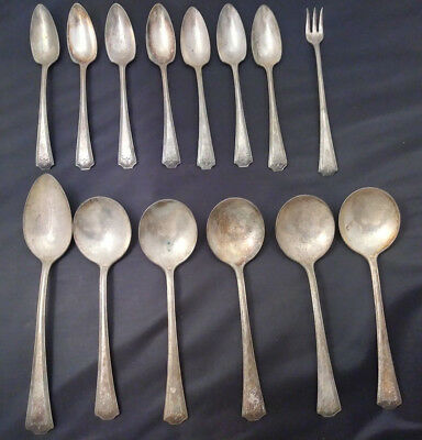 14 Pieces NATIONAL SILVER CO N S Co EPNS ADAM 1930 Silverplate Flatware Lot