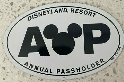Disneyland Annual Passholder AP Car Magnet Oval - BRAND NEW Mickey Mouse