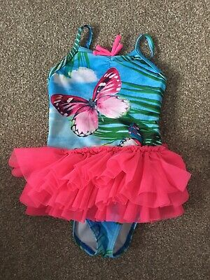 Next Girls Butterfly And Tutu Swimming Costume 6-9 Months