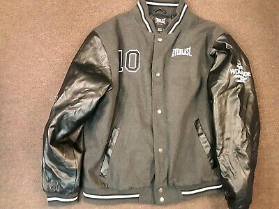 NEW TAGS VINTAGE Everlast Red Satin Boxing Bomber Jacket