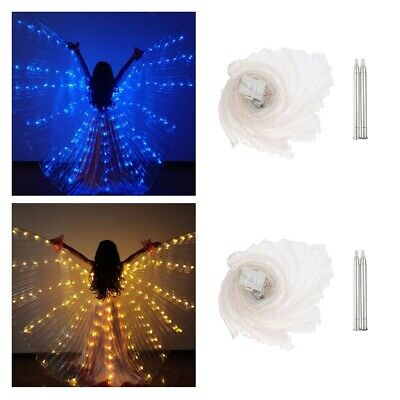 2Pack Kids Belly Dance LED Isis Wings Egyptian Indian Light up Dancing Wing