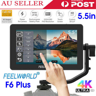 "Feelworld F6 Plus 5.5"" 3D LUT HDMI IPS Touch Screen Camera Video Field Monitor"