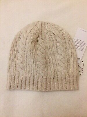 Beautiful VAST LAND 100% Cashmere Hat Soft Moon Beam Gift Warm Cable Knit Beanie