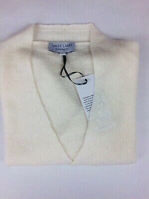 VAST LAND 100% Cashmere Tie Cardigan Soft Lightweight  Lovely BNWT Gift White M