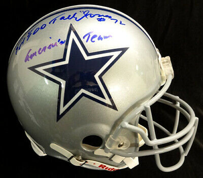Ed Too Tall Jones Autographed Cowboys Full Size Auth Helmet At Psa/Dna 53219