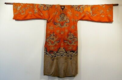 VINTAGE CHINESE 1920's EMBROIDERED CONDUCTOR'S GOWN & BAMBOO ROD *IMMAC COND*