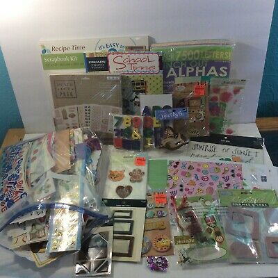 Scrapbook Lot Mixed Huge Kits Stickers Paper Punchouts Embellishments More