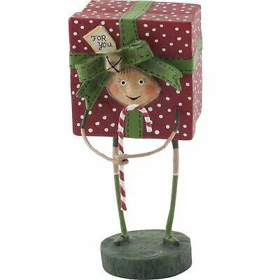 Lori Mitchell All Wrapped Up Gift Present Christmas Folk Art Figurine Figure