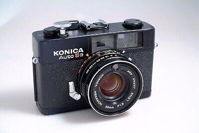 Konica Auto S3 Rangefinder Vintage 35mm Film Camera - Hexanon 38mm f1.8 Lens