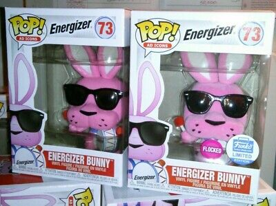 Funko Pop SOLD OUT Ad Icons:Energizer Bunny #73 *Regular & FLOCKED*+FREE EcoTEKs