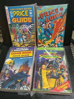 Vintage The Overstreet Comic Book Price Guide Lot of 4 Books #9, #10, #19 #25