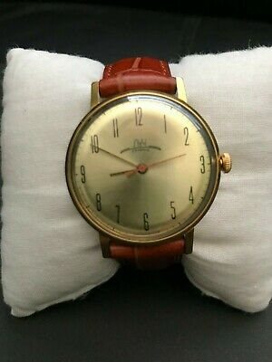 Vintage Soviet LUCH windup watch Classic Dial USSR VGC Serviced