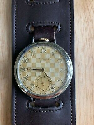 Rare, Swiss, La Seconde Ancre Pocket Watch Remade For Wristwatch, 100% Nickel