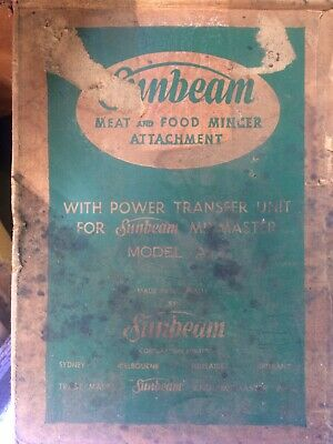Sunbeam Mixmaster A12 Mincer Attachment X2