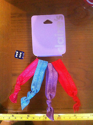 Colourful Fabric Stretchy Wristbands x4 Claire's Claires Accessories £3 RRP