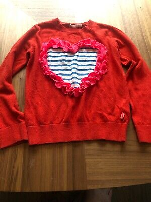 Billie Blush Girls Jumper Age 8 - Heart Frill - Gorgeous !