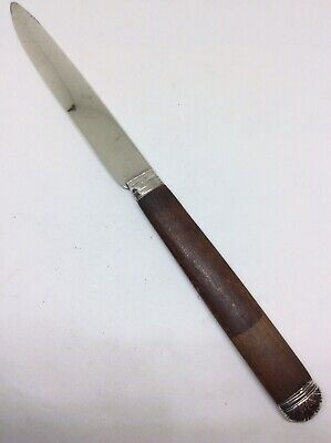Georgian c1820 Solid Silver And Wood Handle Letter Opener