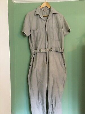 Vintage Cotton Boiler Suit Grey Walls One Size