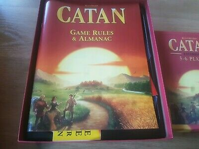 Settlers of Catan 5th Edition Trade Build Settle board game + 5 to 6 expansion