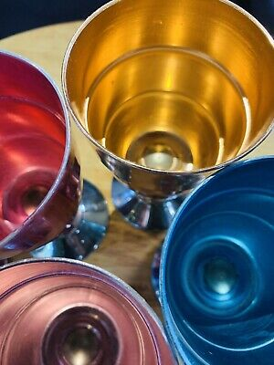 Retro Anodised Coloured Goblets