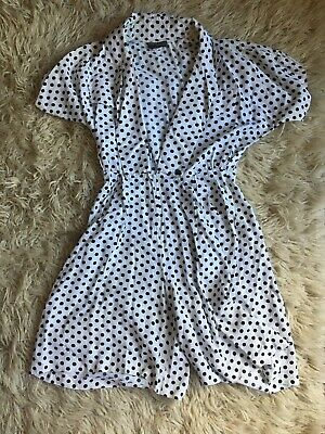 Vintage Polka Dot Playsuit M