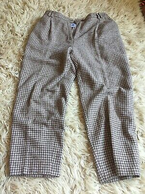 Vintage Houndstooth Trousers C&a 18