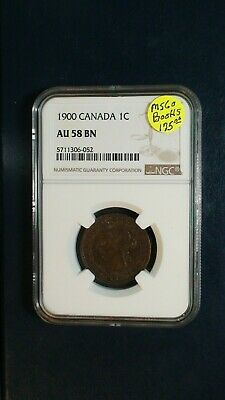 1900 Canada LARGE CENT NGC AU58 BN 1C Coin PRICED TO SELL NOW!
