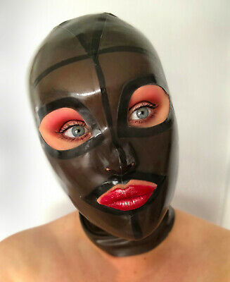 latex rubber gummi zipped mask size Medium.