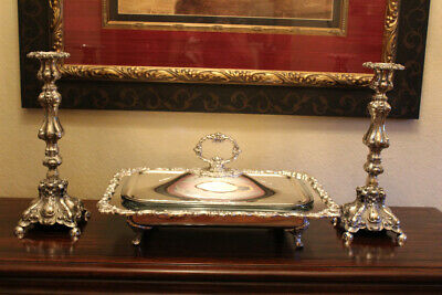 Baroque By Wallace Silver Plate Covered Casserole