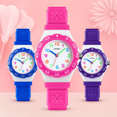 SKMEI Boys Girls Kids Rubber Arabic Analog Sports Quartz Casual Watch Waterproof