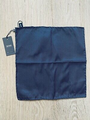 Brand New 100% Silk Pocket Square/Hankerchief - Huge Boss Made In Italy