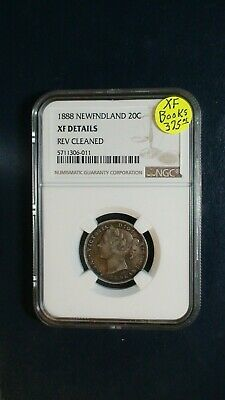 1888 Canada NEWFOUNDLAND TWENTY CENTS NGC XF 20C SILVER Coin PRICED TO SELL!