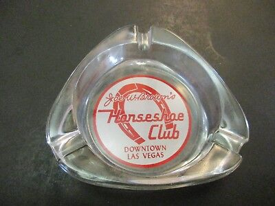 "Vintage Casino Ashtray ""Horseshoe Club"" Las Vegas Nevada"