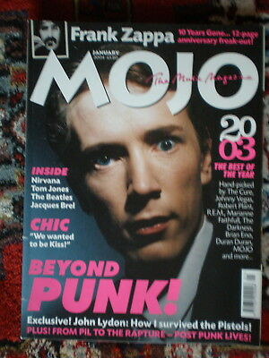 MOJO Magazin Nr. 122 Januar 2004 ohne CD Post-Punk Frank Zappa Tom Jones Pil