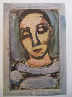 "1954 Vintage Full Color Art Plate /""THE WISE PIERROT/"" GEORGES ROUAULT Lithograph"