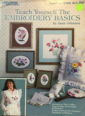 Teach Yourself The Embroidery Basics + 8 Iron-On Templates, Leisure Arts 386