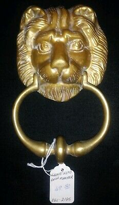 Lion Head Door Knocker Heavy Brass