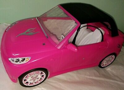 Convertible car cabrio Barbie 2014 Mattel Pink Malibu vehicle Beach Cruiser rare