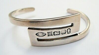 Heavy quality vintage solid sterling silver cuff bracelet (1977)