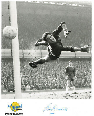 Peter Bonetti Chelsea Signed Photo Westminster Collection Autographed Edition