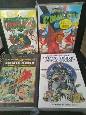 Vintage The Overstreet Comic Book Price Guide Lot of 4 Books #29, #37, #39, #44