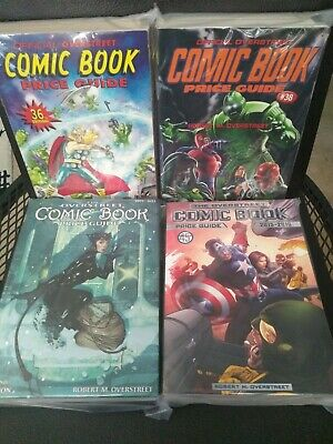 Vintage The Overstreet Comic Book Price Guide Lot of 4 Books #36, #38, #42, #45