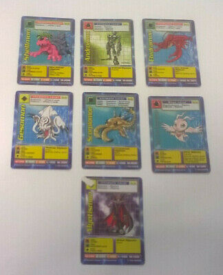 7 x DIGIMON Cards BO Series ALL DIFFERENT Played