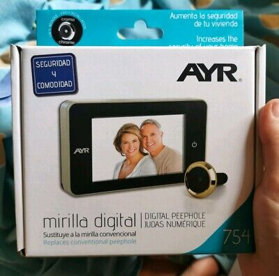 Mirilla Digital AYR 754 Con Pantalla. Color cromo