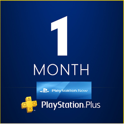 PSN PLUS 1 Month PS NOW 14 DAY TRIAL - PS4 - PS3 - PS Vita - PLAYSTATION NO.CODE