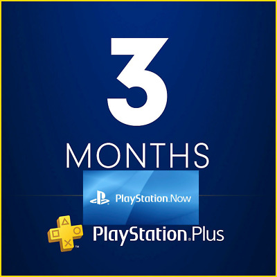 PSN PLUS 3 Month PS NOW 42 DAY TRIAL - PS4 - PS3 - PS Vita - PLAYSTATION NO.CODE