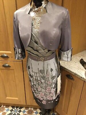 L Atelier Mother of The Bride Dress & Jacket Size 12 Wedding Races New With Tags